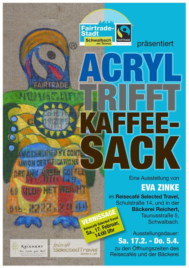Acryl trifft Kaffeesack