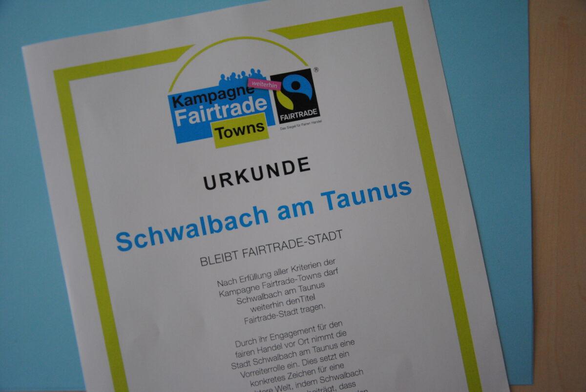 Schwalbach am Taunus bleibt Fairtrade-Stadt!